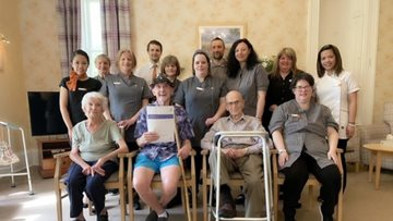 Crieff care home celebrates success in Care Inspectorate report